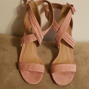Pink Criss Cross Sandals